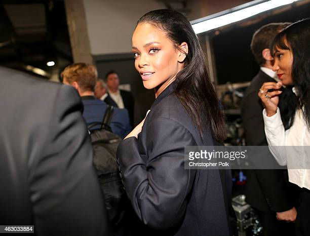 Singer Rihanna attends The 57th Annual GRAMMY Awards at STAPLES Center on February 8 2015 in Los Angeles California
