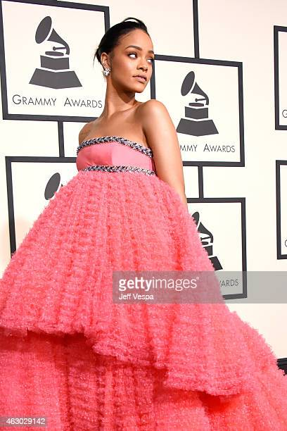 Singer Rihanna attends The 57th Annual GRAMMY Awards at the STAPLES Center on February 8 2015 in Los Angeles California