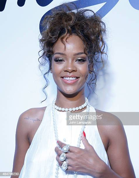 Singer Rihanna attends the Adam Selman Presentation MercedesBenz Fashion Week Spring 2015 at Algus Greenspon Gallery on September 5 2014 in New York...