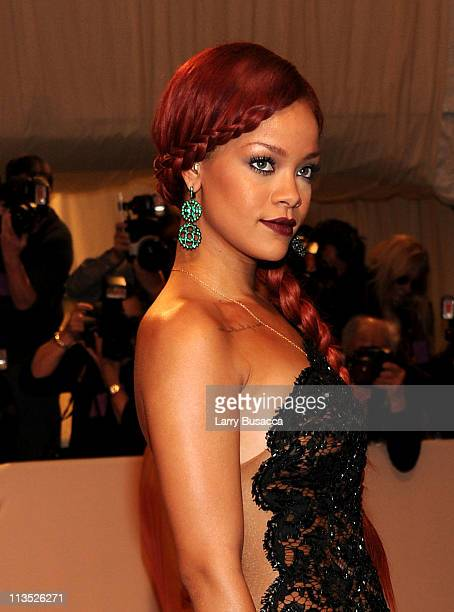 Singer Rihanna attends the 'Alexander McQueen Savage Beauty' Costume Institute Gala at The Metropolitan Museum of Art on May 2 2011 in New York City