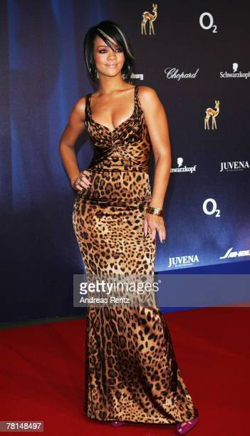 Singer Rihanna attends the annual Bambi Awards 2007 on November 29 2007 in Duesseldorf Germany