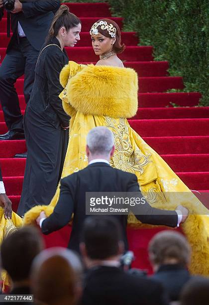 """Singer Rihanna attends the """"China: Through The Looking Glass"""" Costume Institute Benefit Gala at Metropolitan Museum of Art on May 4, 2015 in New York..."""