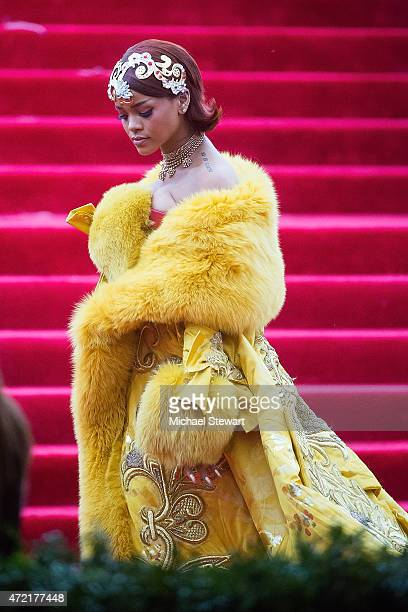 Singer Rihanna attends the 'China Through The Looking Glass' Costume Institute Benefit Gala at Metropolitan Museum of Art on May 4 2015 in New York...