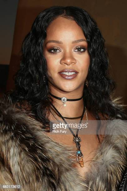 Singer Rihanna attends the Christian Dior Cruise 2018 Runway Show at the Upper Las Virgenes Canyon Open Space Preserve on May 11 2017 in Santa Monica...