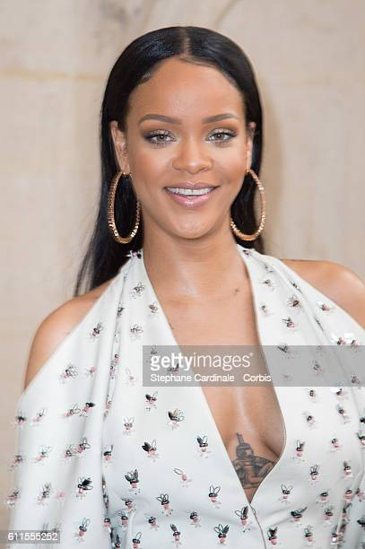 Singer Rihanna attends the Christian Dior show as part of the Paris Fashion Week Womenswear Spring/Summer 2017 on September 30 2016 in Paris France