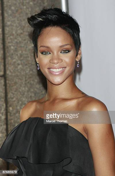 Singer Rihanna attends the Conde Nast Fashion Rocks at Radio City Music Hall on September 5 2008 in New York City