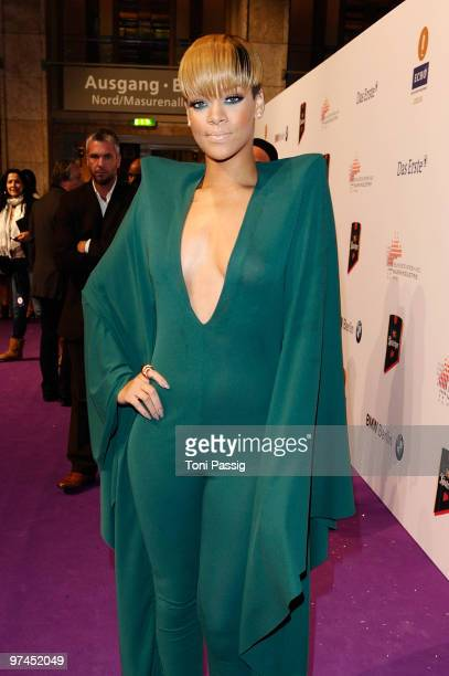Singer Rihanna attends the Echo Award 2010 at Palais am Funkturm on March 4 2010 in Berlin Germany