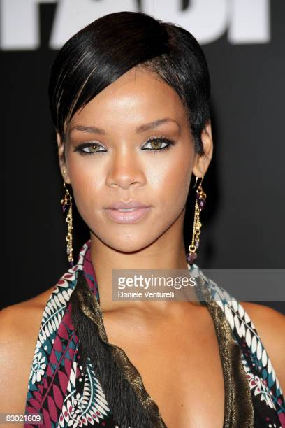 Singer Rihanna attends the FABFIVE Vanity Fair Party at Milan Fashion Week Womenswear Spring/Summer 2009 held at Triennale Design Miuseum on...