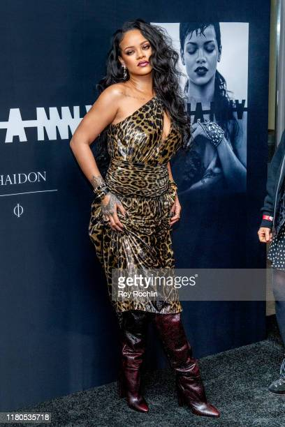Singer Rihanna attends the launch of her first visual autobiography Rihanna at Guggenheim Museum on October 11 2019 in New York City