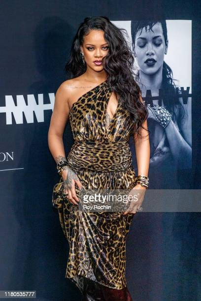 """Singer Rihanna attends the launch of her first visual autobiography, """"Rihanna"""" at Guggenheim Museum on October 11, 2019 in New York City."""