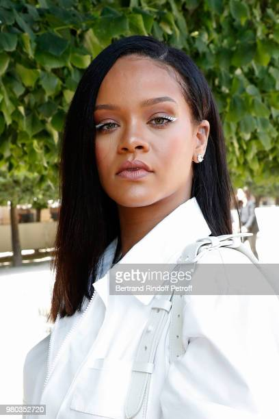 Singer Rihanna attends the Louis Vuitton Menswear Spring/Summer 2019 show as part of Paris Fashion Week on June 21 2018 in Paris France