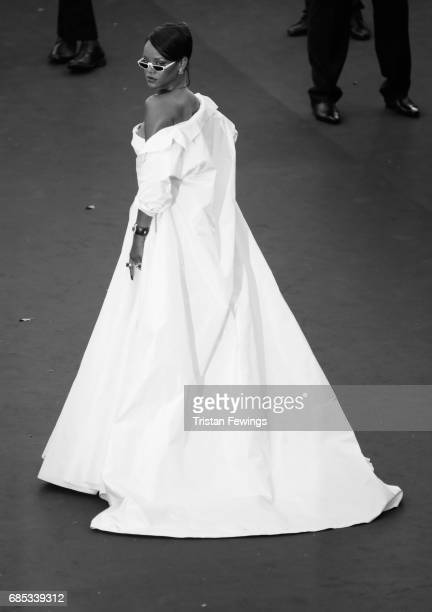 Singer Rihanna attends the 'Okja' premiere during the 70th annual Cannes Film Festival at Palais des Festivals on May 19 2017 in Cannes France