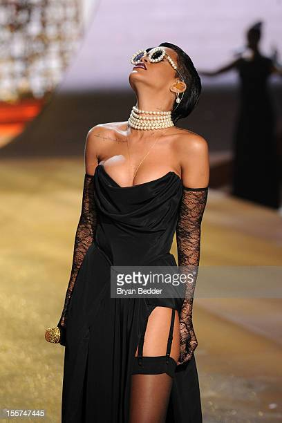 Singer Rihanna during the Victoria's Secret 2012 Fashion Show on November 7, 2012 in New York City.
