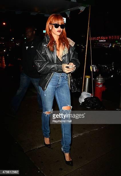 Singer Rihanna is seen arriving at Coppella Restaurants in Soho on June 2 2015 in New York City