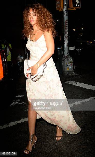 Singer Rihanna is seen at The Mercer Kitchen in Soho on July 17 2015 in New York City