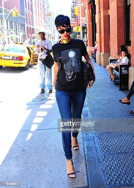 Singer Rihanna is seen in Soho on September 4 2013 in New York City