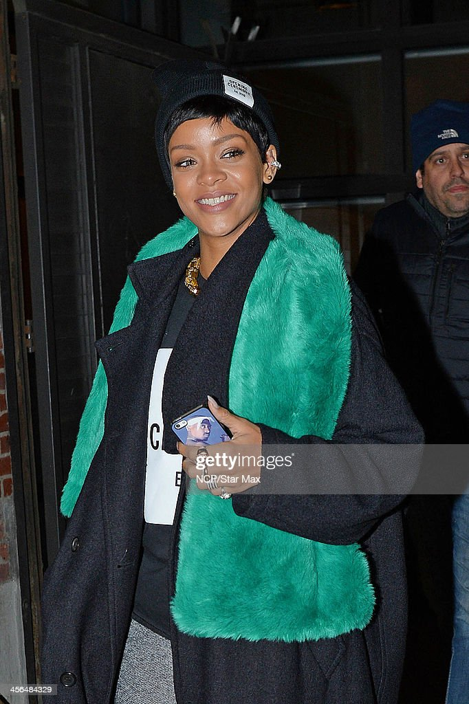 Singer Rihanna is seen on December 13, 2013 in New York City.