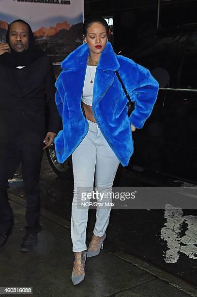 Singer Rihanna is seen on December 23 2014 in New York City
