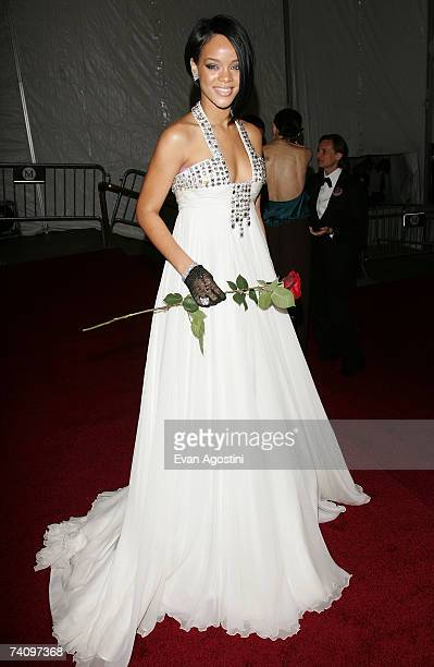 Singer Rihanna leaving The Metropolitan Museum of Art's Costume Institute Gala May 07 2007 in New York City
