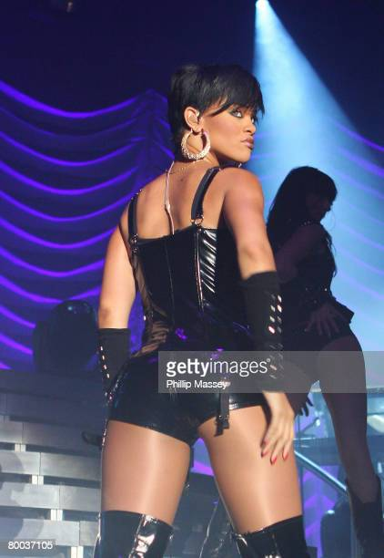 Singer Rihanna performs at the RDS on February 27 2008 in Dublin Ireland