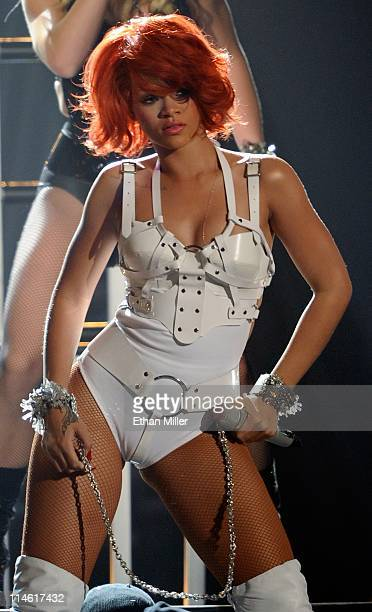 Singer Rihanna performs during the 2011 Billboard Music Awards at the MGM Grand Garden Arena May 22 2011 in Las Vegas Nevada