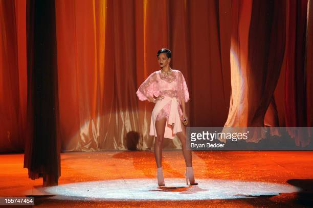 Singer Rihanna performs during the Victoria's Secret 2012 Fashion Show on November 7 2012 in New York City