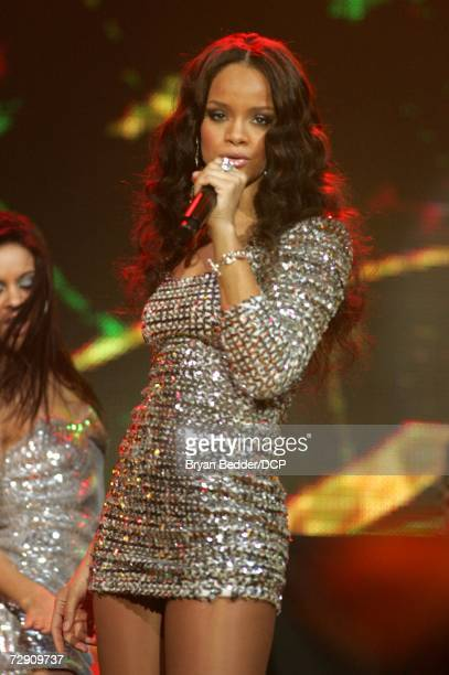 Singer Rihanna performs onstage at Dick Clark's New Year's Rockin' Eve 2007 held at the Nokia Theatre on December 20, 2006 in New York City.