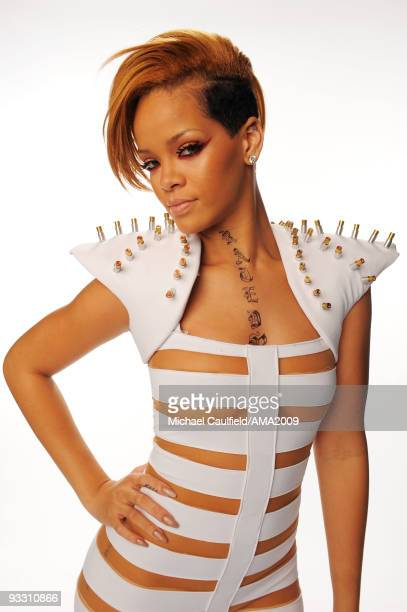 Singer Rihanna poses for a portrait at the 2009 American Music Awards at Nokia Theatre L.A. Live on November 22, 2009 in Los Angeles, California.