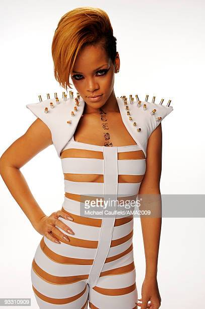Singer Rihanna Rihanna poses for a portrait at the 2009 American Music Awards at Nokia Theatre LA Live on November 22 2009 in Los Angeles California
