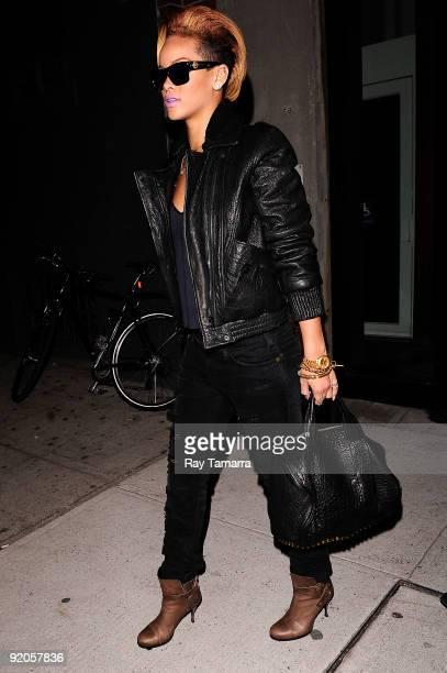Singer Rihanna visits Milk Studio on October 19 2009 in New York City