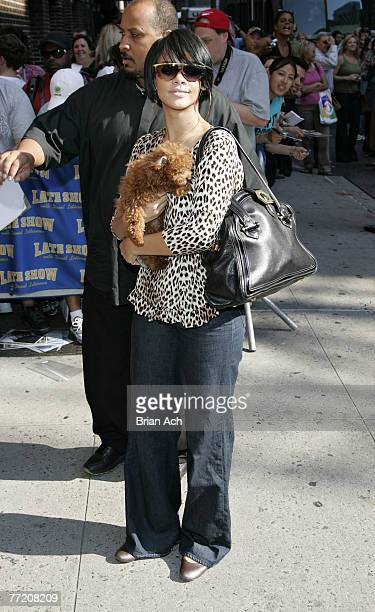Singer Rihanna visits The Late Show with David Letterman on October 4 2007 at the Ed Sullivan Theatre in New York City