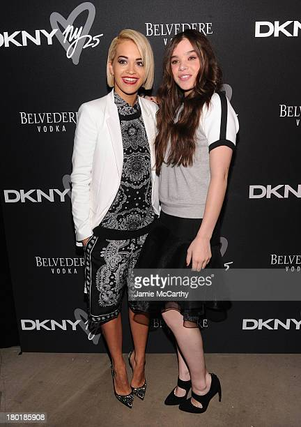 Singer Rita Ora and actress Hailee Steinfeld attend the #DKNY25 Birthday Bash on September 9 2013 in New York City