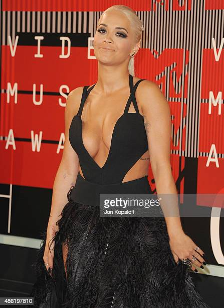 Singer Rita Ora arrives at the 2015 MTV Video Music Awards at Microsoft Theater on August 30 2015 in Los Angeles California