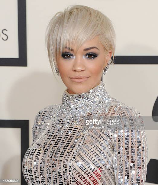 Singer Rita Ora arrives at the 57th GRAMMY Awards at Staples Center on February 8 2015 in Los Angeles California