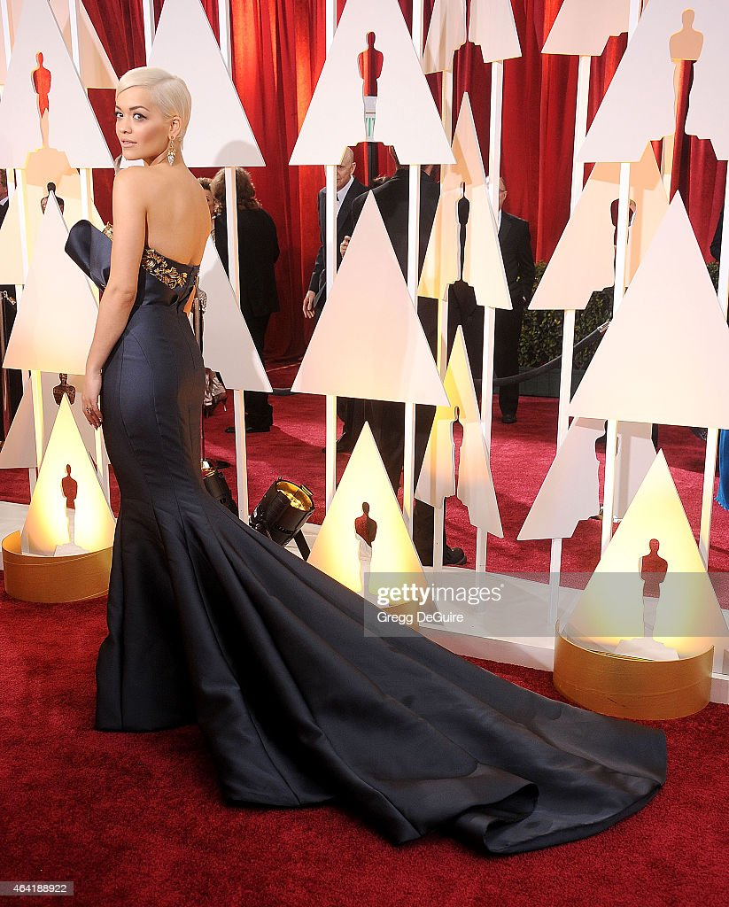 Singer Rita Ora arrives at the 87th Annual Academy Awards at Hollywood & Highland Center on February 22, 2015 in Hollywood, California.