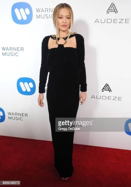 Singer Rita Ora arrives at Warner Music Group's Annual GRAMMY Celebration at Milk Studios on February 12 2017 in Hollywood California