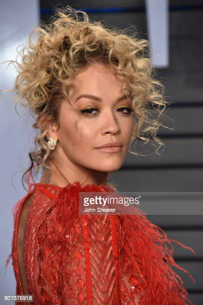 Singer Rita Ora attends the 2018 Vanity Fair Oscar Party hosted by Radhika Jones at Wallis Annenberg Center for the Performing Arts on March 4 2018...