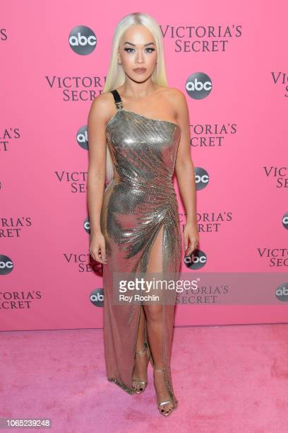 Singer Rita Ora attends the 2018 Victoria's Secret Fashion Show at Pier 94 on November 08 2018 in New York City