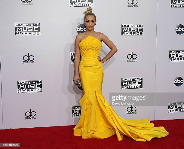 Singer Rita Ora attends the 42nd Annual American Music Awards at the Nokia Theatre LA Live on November 23 2014 in Los Angeles California