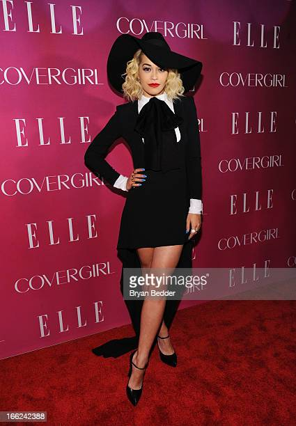Singer Rita Ora attends the 4th Annual ELLE Women in Music Celebration at The Edison Ballroom on April 10 2013 in New York City