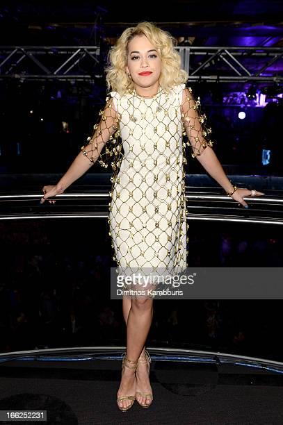 Singer Rita Ora attends the 4th Annual ELLE Women in Music Celebration at The Edison Ballroom on April 10 2013 in New York City