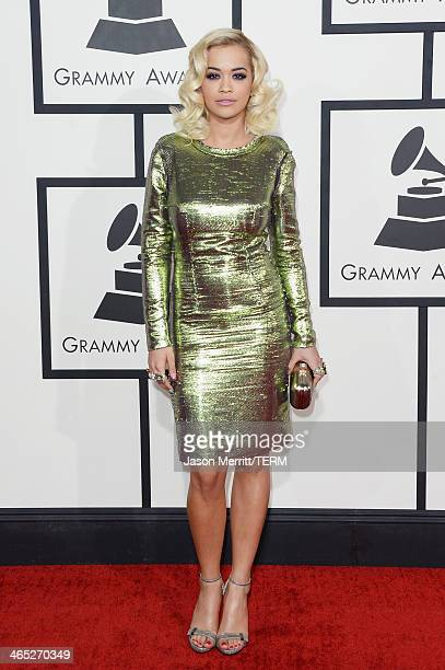 Singer Rita Ora attends the 56th GRAMMY Awards at Staples Center on January 26 2014 in Los Angeles California