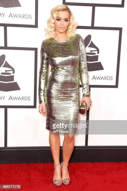 Singer Rita Ora attends the 56th GRAMMY Awards at Staples Center on January 26, 2014 in Los Angeles, California.