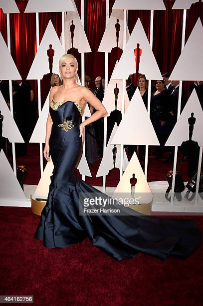 Singer Rita Ora attends the 87th Annual Academy Awards at Hollywood Highland Center on February 22 2015 in Hollywood California