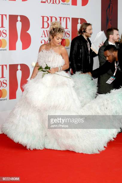 AWARDS 2018*** Singer Rita Ora attends The BRIT Awards 2018 held at The O2 Arena on February 21 2018 in London England