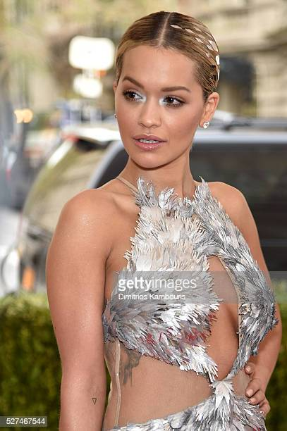 Singer Rita Ora attends the Manus x Machina Fashion In An Age Of Technology Costume Institute Gala at Metropolitan Museum of Art on May 2 2016 in New...