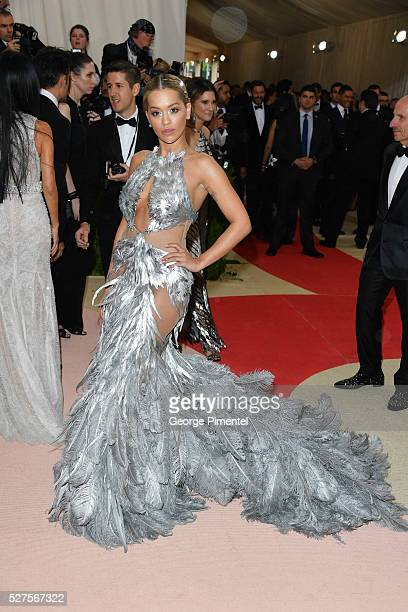 Singer Rita Ora attends the 'Manus x Machina: Fashion in an Age of Technology' Costume Institute Gala at the Metropolitan Museum of Art on May 2,...