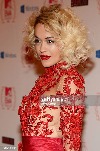 Singer Rita Ora attends the MTV EMA's 2012 at Festhalle Frankfurt on November 11 2012 in Frankfurt am Main Germany