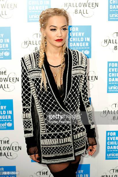 Singer Rita Ora attends the UNICEF Halloween Ball at One Mayfair on October 29 2015 in London England