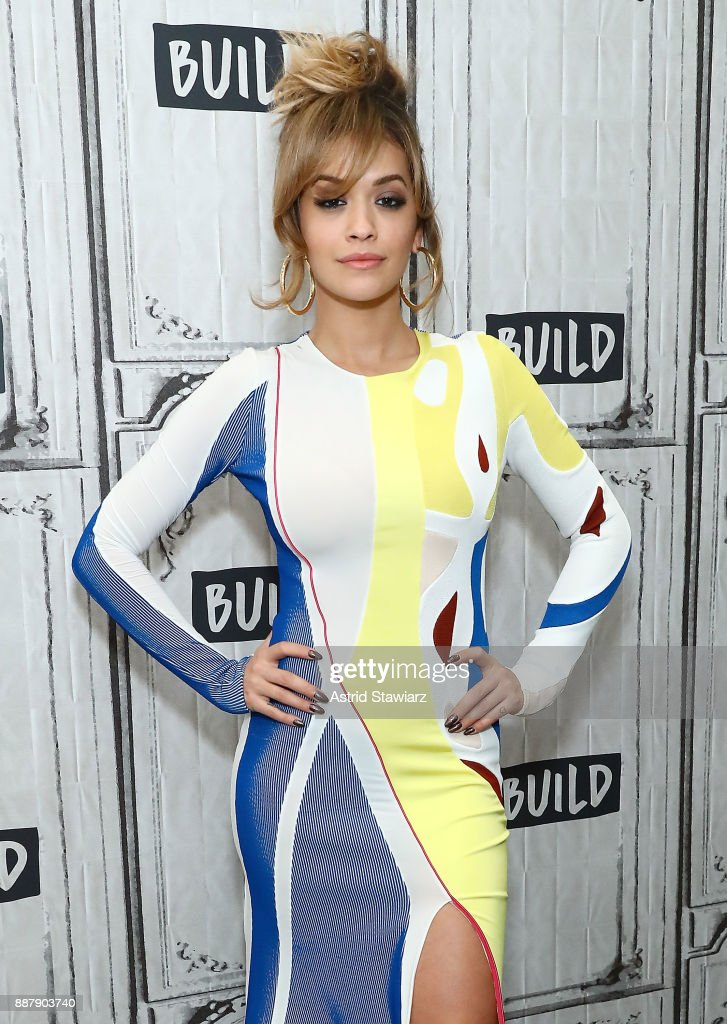 Singer Rita Ora discusses The Open Mic Project at Build studio on December 7, 2017 in New York City.